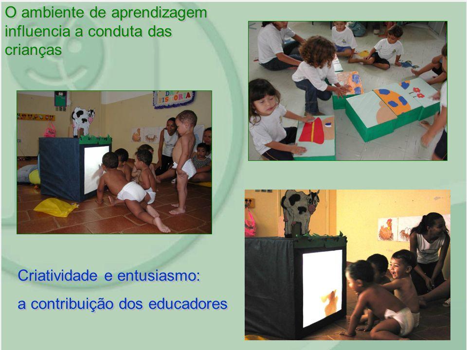 O ambiente de aprendizagem influencia a conduta das crianças Criatividade e entusiasmo: a contribuição dos educadores Criatividade e entusiasmo: a con