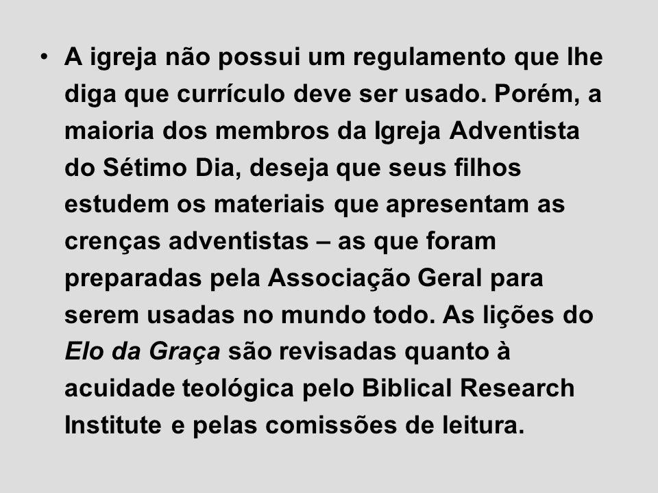 A igreja não possui um regulamento que lhe diga que currículo deve ser usado. Porém, a maioria dos membros da Igreja Adventista do Sétimo Dia, deseja