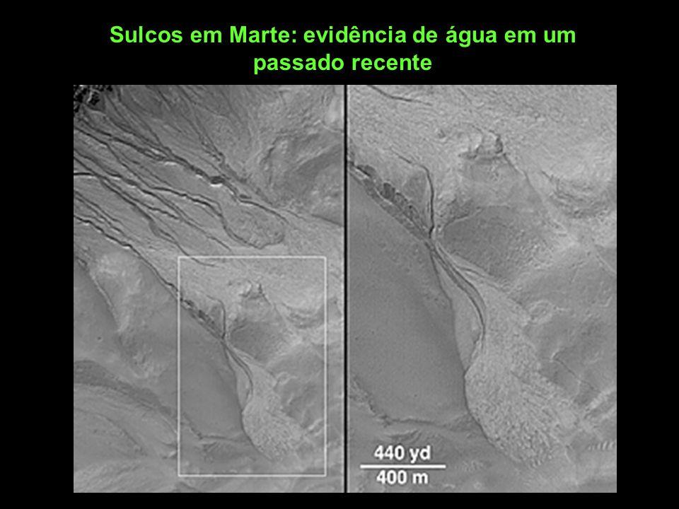 Sulcos em Marte: evidência de água em um passado recente