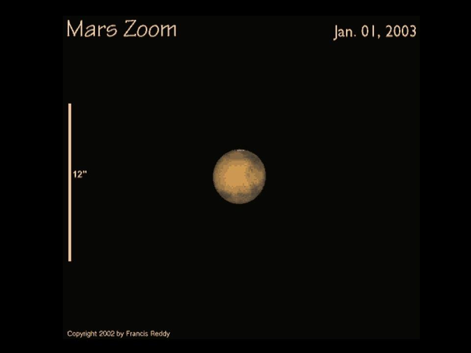 Marte visto pelo Laboratório Nacional de Astrofísica - LNA A imagem à direita foi obtida por Rodrigo Campos - LNA, usando o telescópio de 1,60 m.