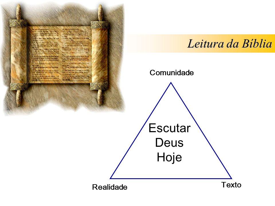 Escutar Deus Hoje Comunidade Realidade Texto Leitura da Bíblia