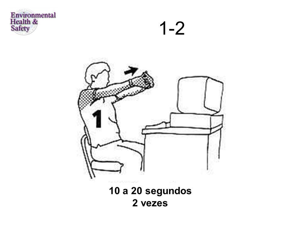 6-puxar braço e mão direitos, cabeça para a esquerda 10 a 12 segundos cada braço