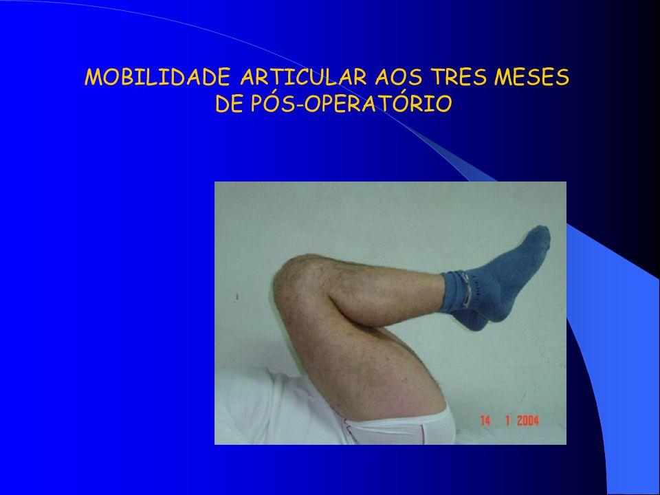 MOBILIDADE ARTICULAR AOS TRES MESES DE PÓS-OPERATÓRIO