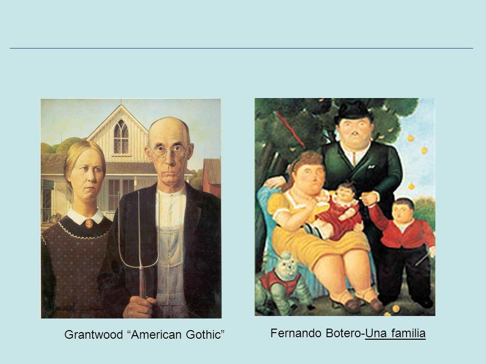 Grantwood American Gothic Fernando Botero-Una familia