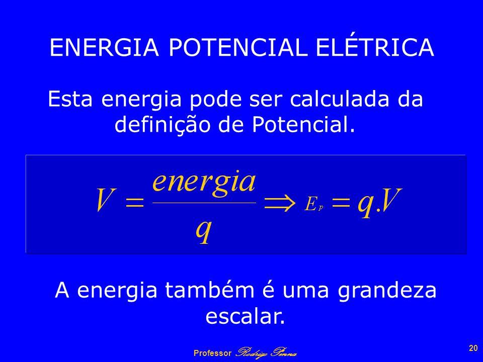 Professor Rodrigo Penna 19 Potencial estabelecido por uma esfera eletrizada Gráfico: k0k0 Q R R r V = constante 1 r V