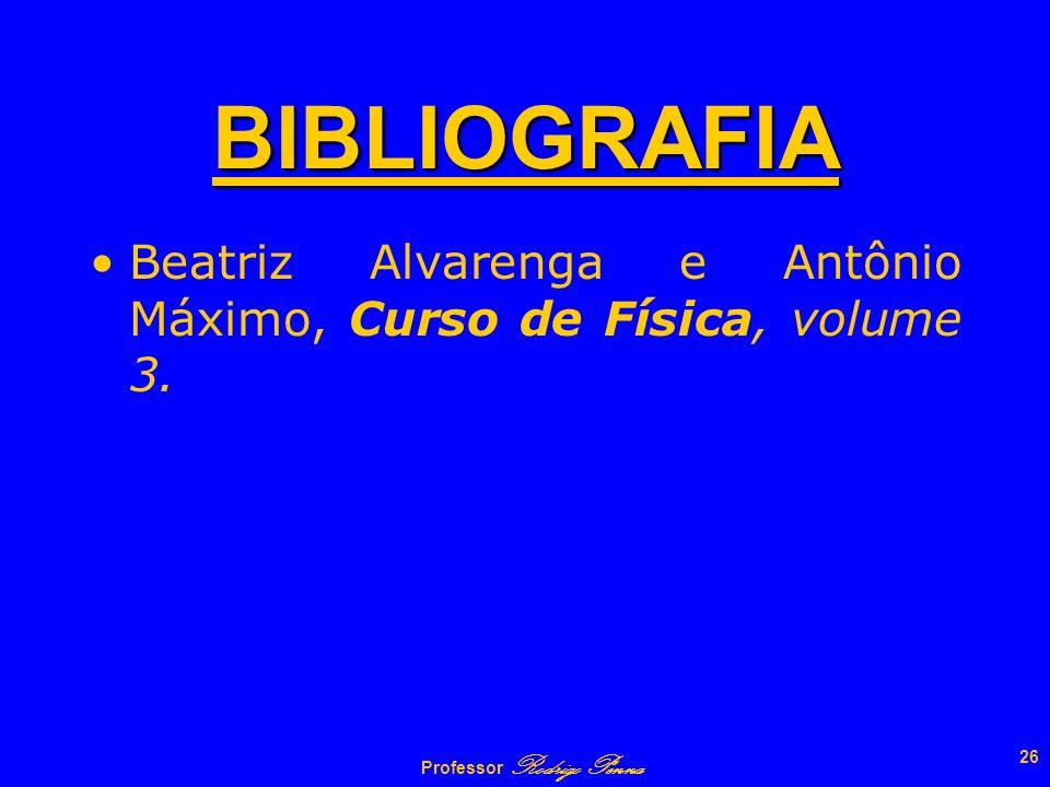Professor Rodrigo Penna 25 1 2 R1R1 R2R2 ELÉTRONS 12 V 1 = V 2 Q1Q1 Q2Q2