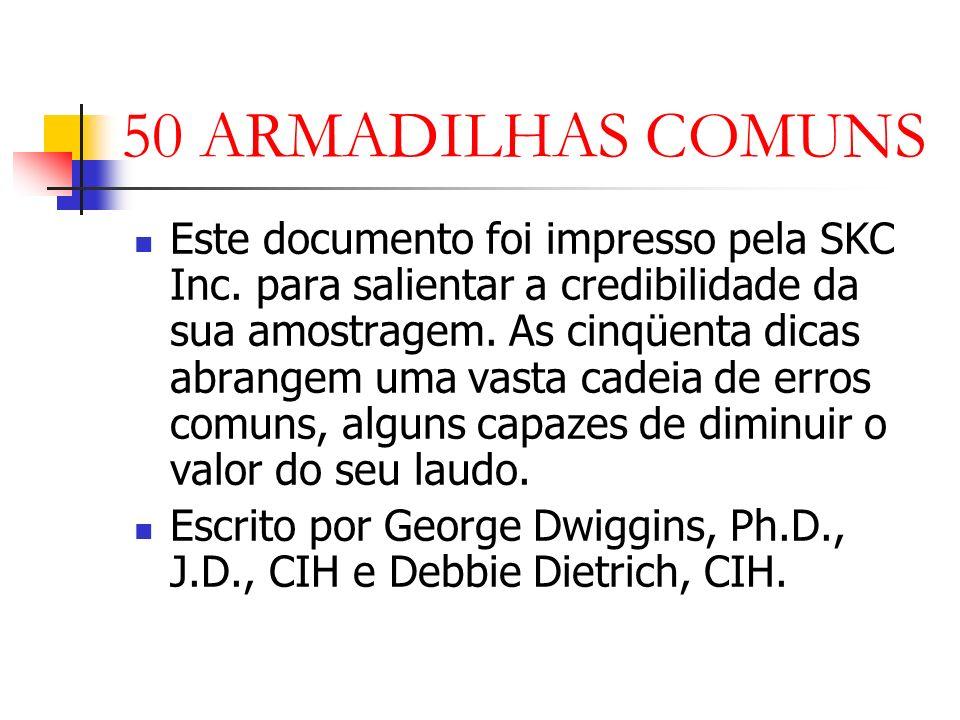 50 ARMADILHAS COMUNS Este documento foi impresso pela SKC Inc.