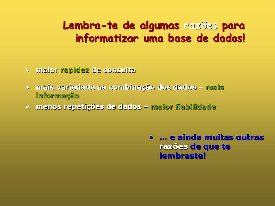 Organização da informação … mas o que é isto?… … mas já lá vamos!