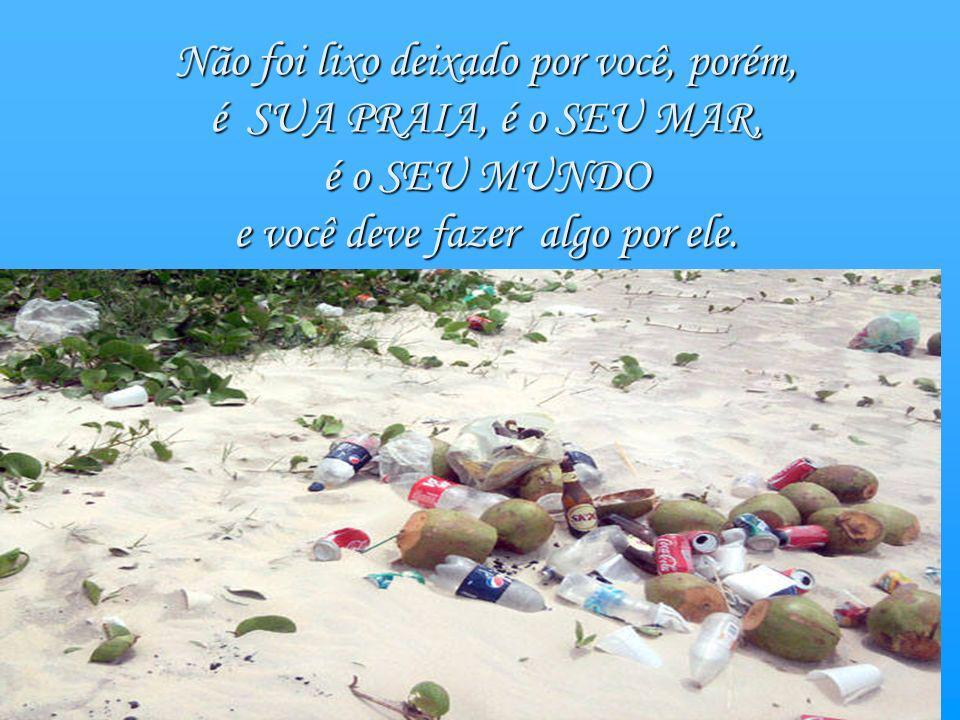 A próxima vez em que você for à sua praia preferida, talvez encontre na areia lixo que outra pessoa ali deixou.