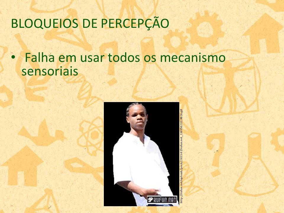 BLOQUEIOS DE PERCEPÇÃO Falha em usar todos os mecanismo sensoriais http://rufun.net/uploads/posts/2011-07/rufun.net_13095023124816.gif