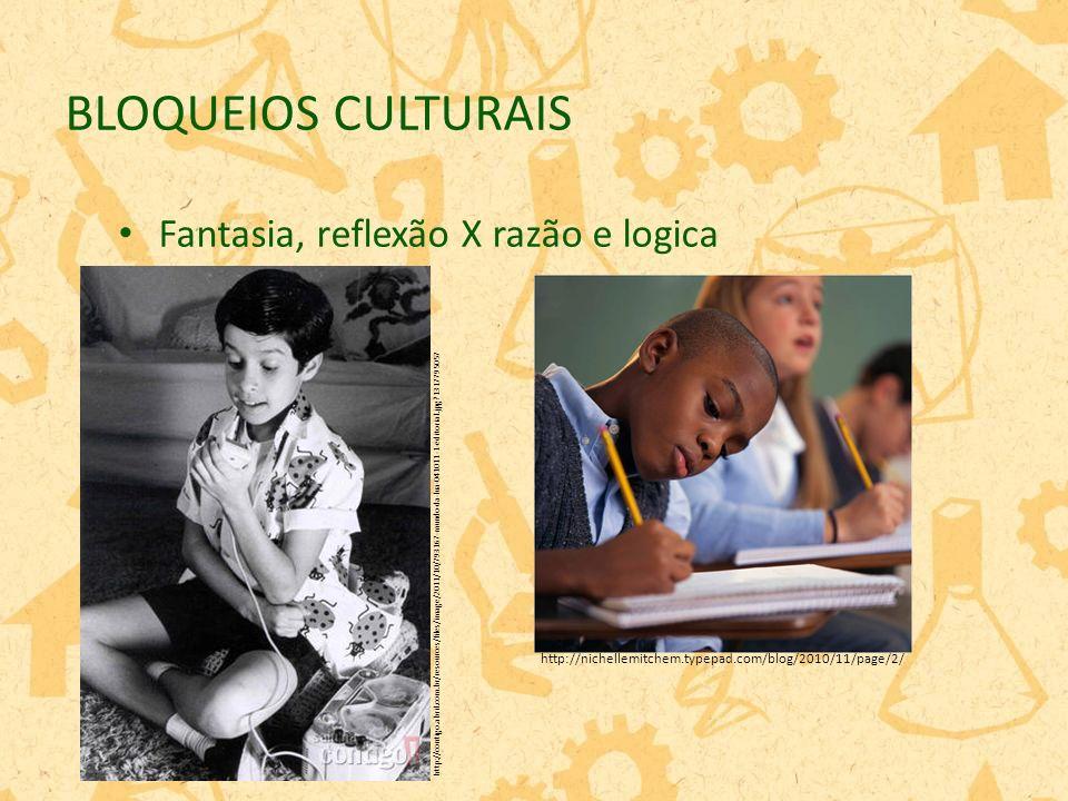 BLOQUEIOS CULTURAIS Fantasia, reflexão X razão e logica http://nichellemitchem.typepad.com/blog/2010/11/page/2/ http://contigo.abril.com.br/resources/files/image/2011/10/793167-mundo-da-lua-041011-1-editorial.jpg?1317795057