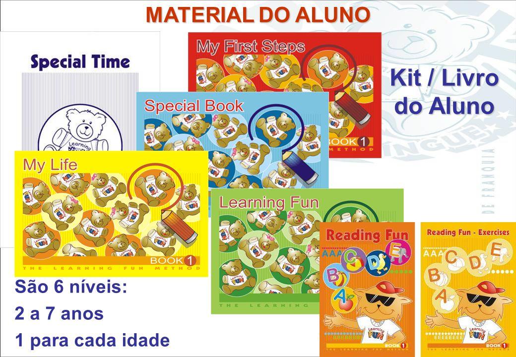 Sistema Learning Fun de Franquia Kit / Livro do Aluno Cartões e Posters Calendários Fantoches Adesivos Música Livros de histórias Brinquedos Carimbos