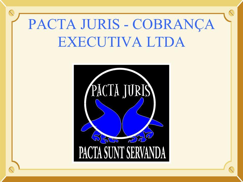 APRESENTAÇÃO INSTITUCIONAL PACTA JURIS56 PRESTAÇÃO DE CONTAS APRESENTAÇÃO DA CÓPIA DOS RECIBOS POR NÓS AUTENTICADOS PARA CONTROLE DO CONTRATANTE EM SEU SISTEMA; APRESENTAÇÃO DE DOCUMENTAÇÃO LEGAL, DESCRIMINANDO OS SERVIÇOS PRESTADOS PELA PACTA JURIS PACTUADOS COM BASE NA PLANILHA DOS VALORES RESGATADOS; APRESENTAÇAO DOS COMPROVANTES DE DEPÓSITO BANCÁRIO DAS QUANTIAS DEPOSITADAS NA CONTA COBRANÇA.