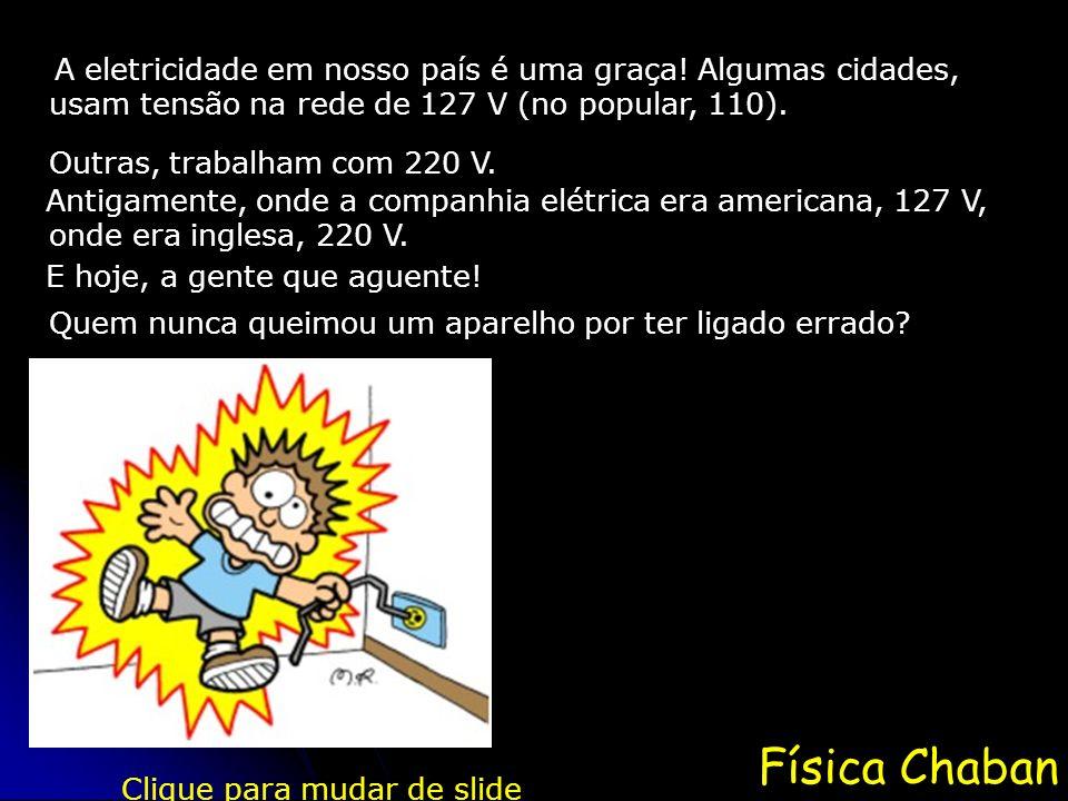 Física Chaban A eletricidade em nosso país é uma graça.