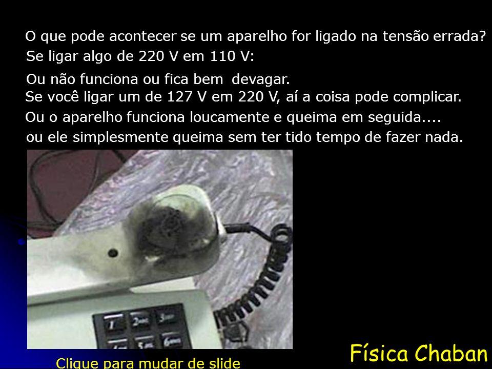 Física Chaban O que pode acontecer se um aparelho for ligado na tensão errada.
