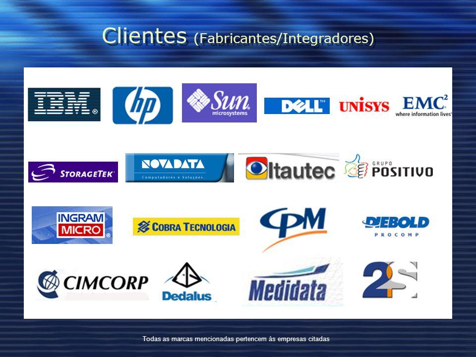Clientes (Fabricantes/Integradores) Todas as marcas mencionadas pertencem às empresas citadas