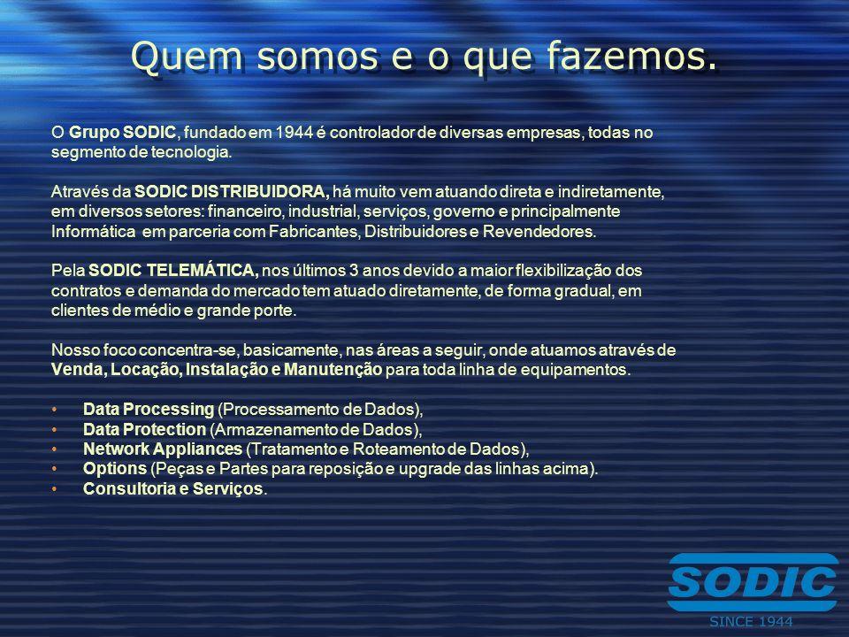 Quem somos e o que fazemos. O Grupo SODIC, fundado em 1944 é controlador de diversas empresas, todas no segmento de tecnologia. Através da SODIC DISTR