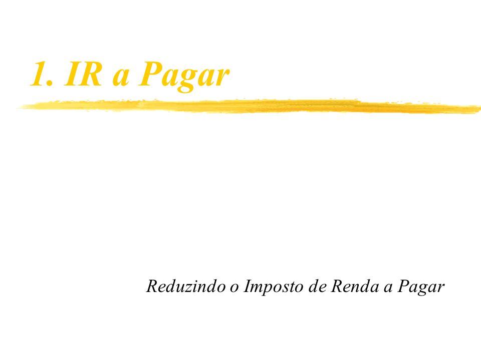 1. IR a Pagar Reduzindo o Imposto de Renda a Pagar