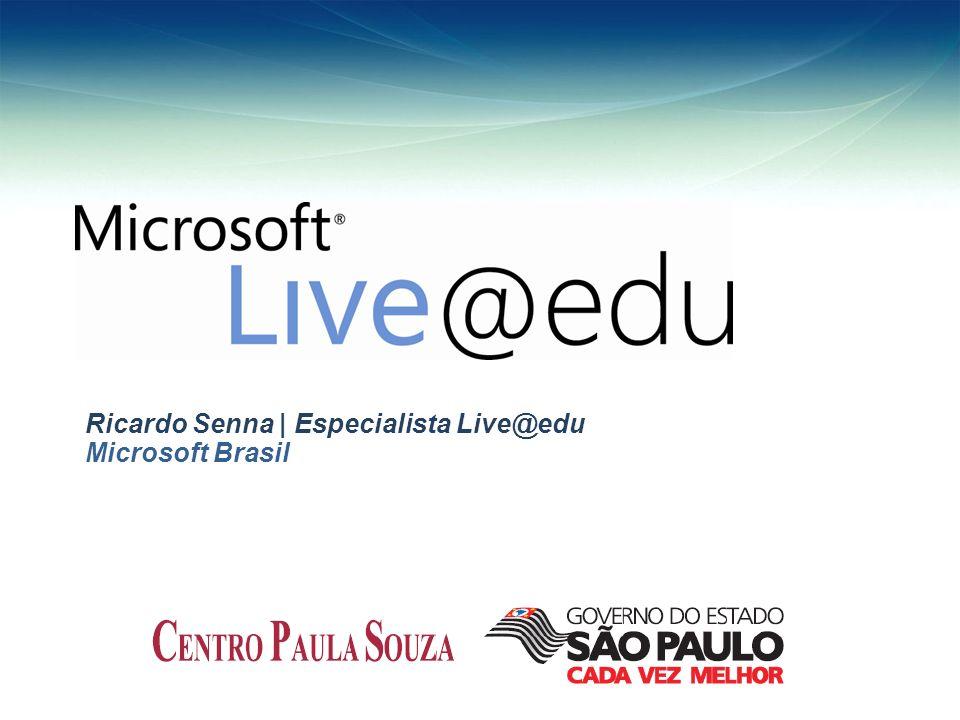Ricardo Senna | Especialista Live@edu Microsoft Brasil