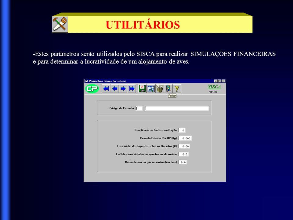 UTILITÁRIOS -Utilizando-se desta tela você poderá cadastrar novos usuários, atribuir-lhes senhas e o nível de segurança desejado.