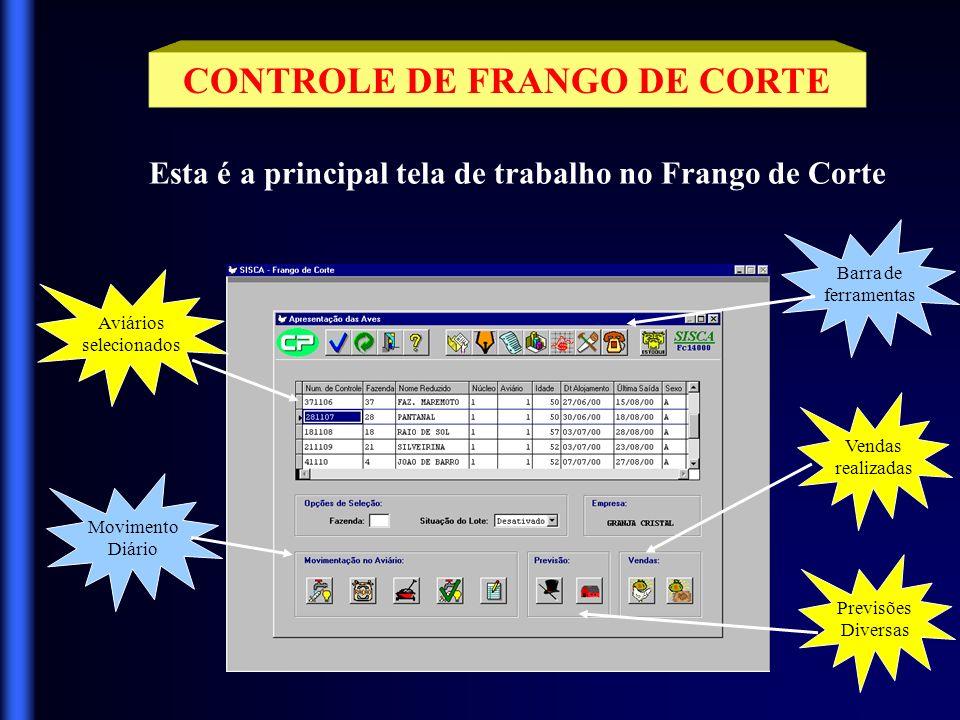 CONTROLE DE ESTOQUES Através desta tela de MENU você terá acesso às rotinas de CADASTROS, TABELAS, GRUPOS e outras.