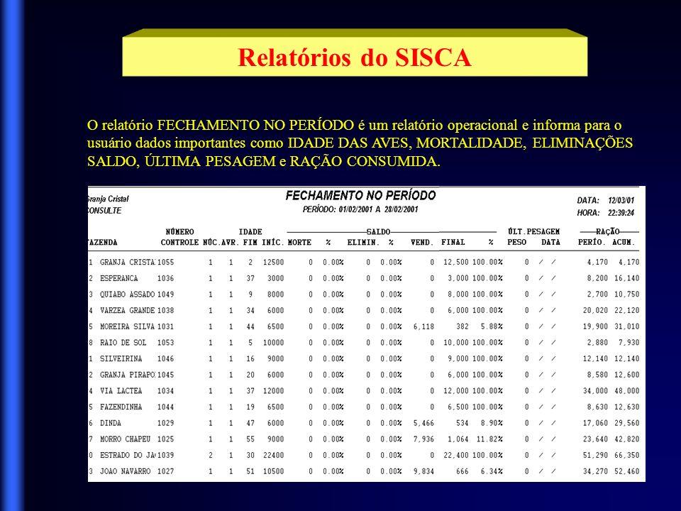 Este é um modelo de um relatório CADASTRAL e apresenta todos os dados da tabela de LINHAGENS.