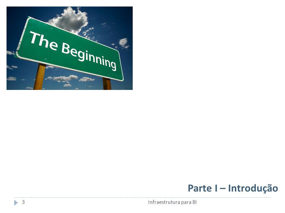 Parte I – Introdução 3Infraestrutura para BI