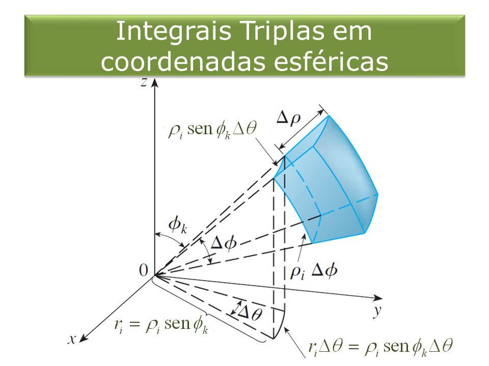 Integrais Triplas em coordenadas esféricas