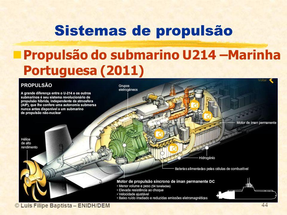© Luis Filipe Baptista – ENIDH/DEM 44 Sistemas de propulsão Propulsão do submarino U214 –Marinha Portuguesa (2011)