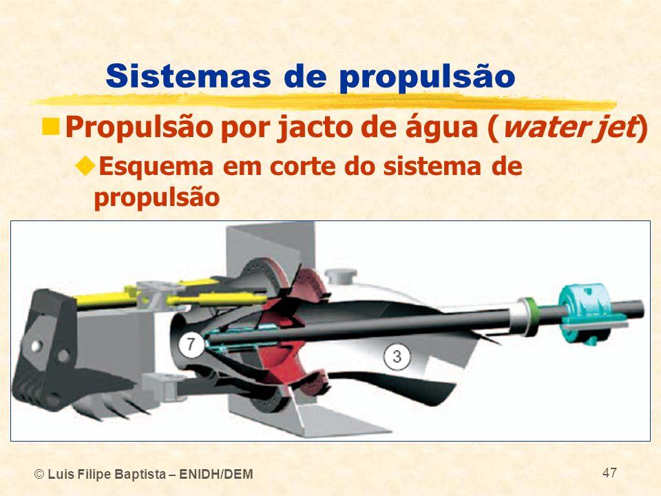 © Luis Filipe Baptista – ENIDH/DEM 47 Sistemas de propulsão Propulsão por jacto de água (water jet) Esquema em corte do sistema de propulsão