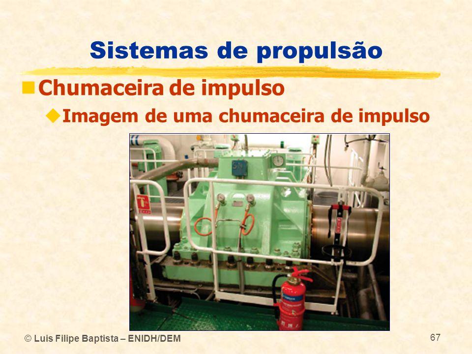 © Luis Filipe Baptista – ENIDH/DEM 67 Sistemas de propulsão Chumaceira de impulso Imagem de uma chumaceira de impulso