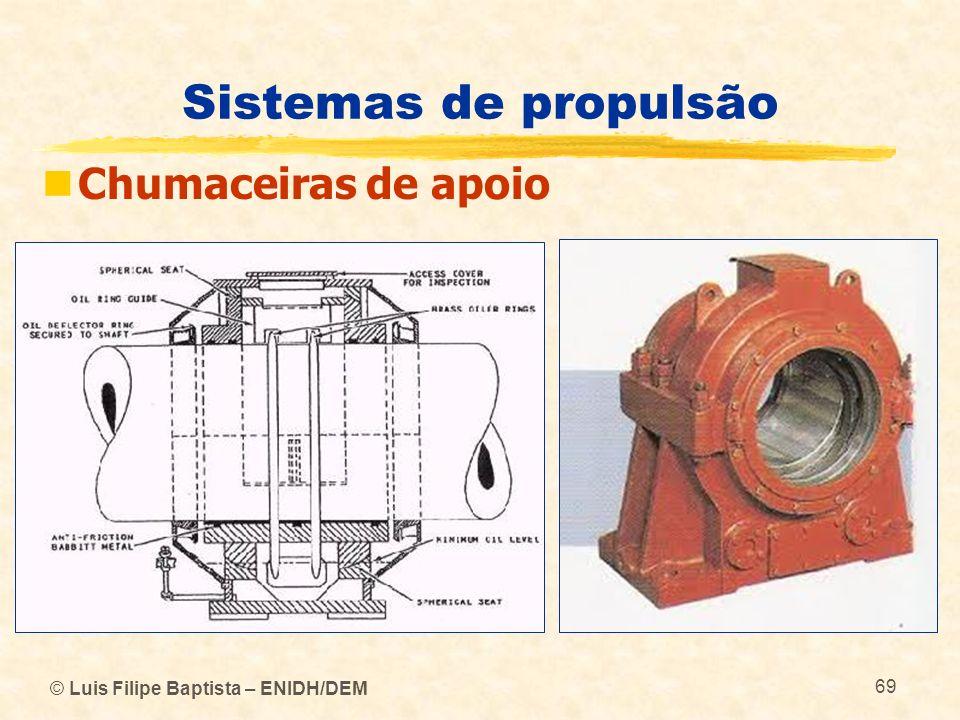 © Luis Filipe Baptista – ENIDH/DEM 69 Sistemas de propulsão Chumaceiras de apoio