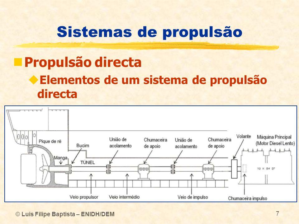 © Luis Filipe Baptista – ENIDH/DEM 7 Sistemas de propulsão Propulsão directa Elementos de um sistema de propulsão directa