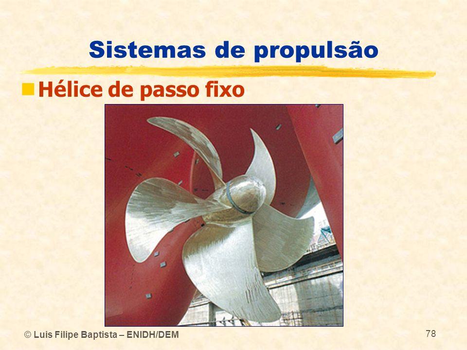 © Luis Filipe Baptista – ENIDH/DEM 78 Sistemas de propulsão Hélice de passo fixo