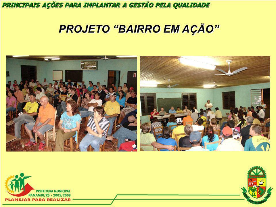 CENTRAL DE PROJETOS PRINCIPAIS AÇÕES PARA IMPLANTAR A GESTÃO PELA QUALIDADE