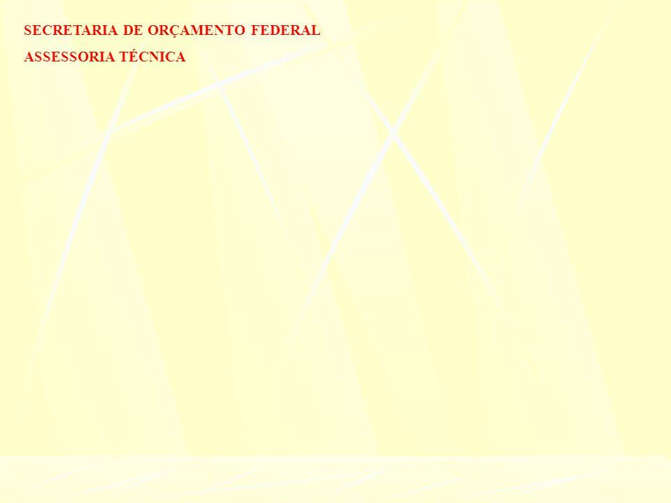 SECRETARIA DE ORÇAMENTO FEDERAL ASSESSORIA TÉCNICA