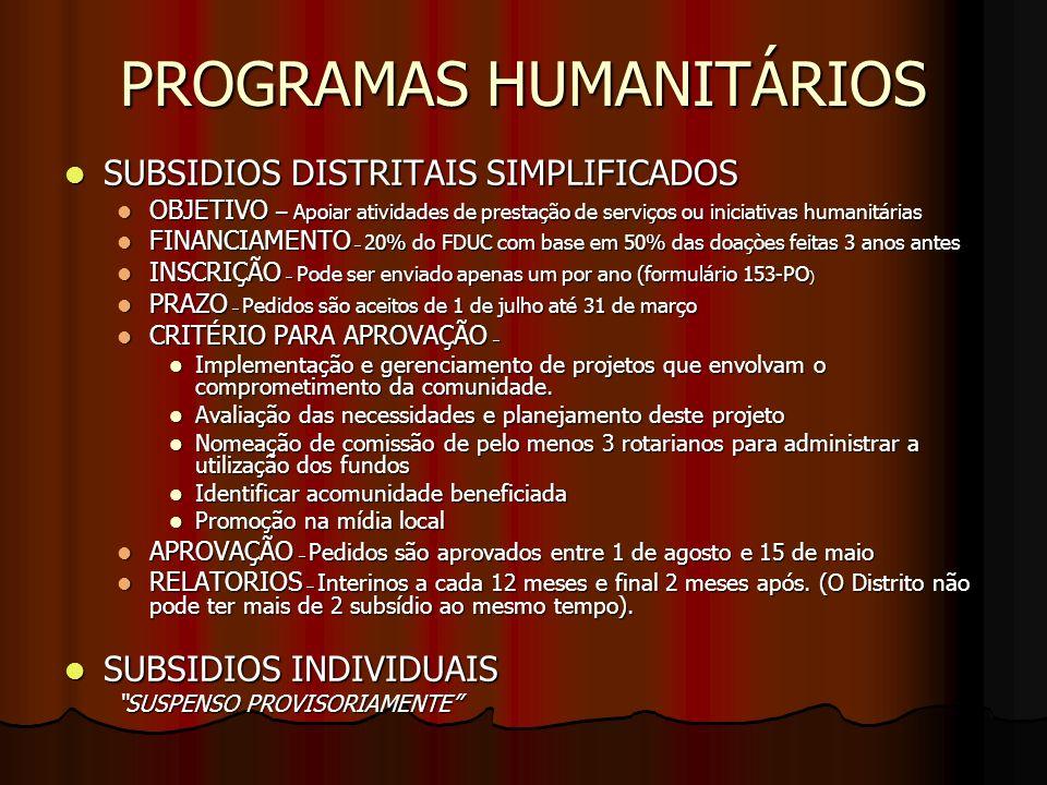 APOIO FINANCEIRO A FUNDAÇÃO ROTARIA É ESSENCIAL EM CADA CLUBE UMA COMISSÃO DA FUNDAÇÃO ROTARIA – Conscientização dos socios na participacão em programas de Intercâmbio Cultural, alem das ações em projetos humanitários É ESSENCIAL EM CADA CLUBE UMA COMISSÃO DA FUNDAÇÃO ROTARIA – Conscientização dos socios na participacão em programas de Intercâmbio Cultural, alem das ações em projetos humanitários CONTRIBUIÇÃO AO FUNDO ANNUAL DE PROGRAMAS – São as doações não vinculadas que dão apoio ao hoje em Rotary CONTRIBUIÇÃO AO FUNDO ANNUAL DE PROGRAMAS – São as doações não vinculadas que dão apoio ao hoje em Rotary DOAÇÕES AO FUNDO PERMANETE – Garante o amanhã da nossa Instituição DOAÇÕES AO FUNDO PERMANETE – Garante o amanhã da nossa Instituição DOAÇÕES VINCULADAS EM APOIO A PROGRAMAS OU PROJETOS ESPECÍFICOS – EX: As contribuições dos clubes vinculadas ao seu próprio projeto de Subsídios Equivalentes, ou ao projeto Polio Plus DOAÇÕES VINCULADAS EM APOIO A PROGRAMAS OU PROJETOS ESPECÍFICOS – EX: As contribuições dos clubes vinculadas ao seu próprio projeto de Subsídios Equivalentes, ou ao projeto Polio Plus