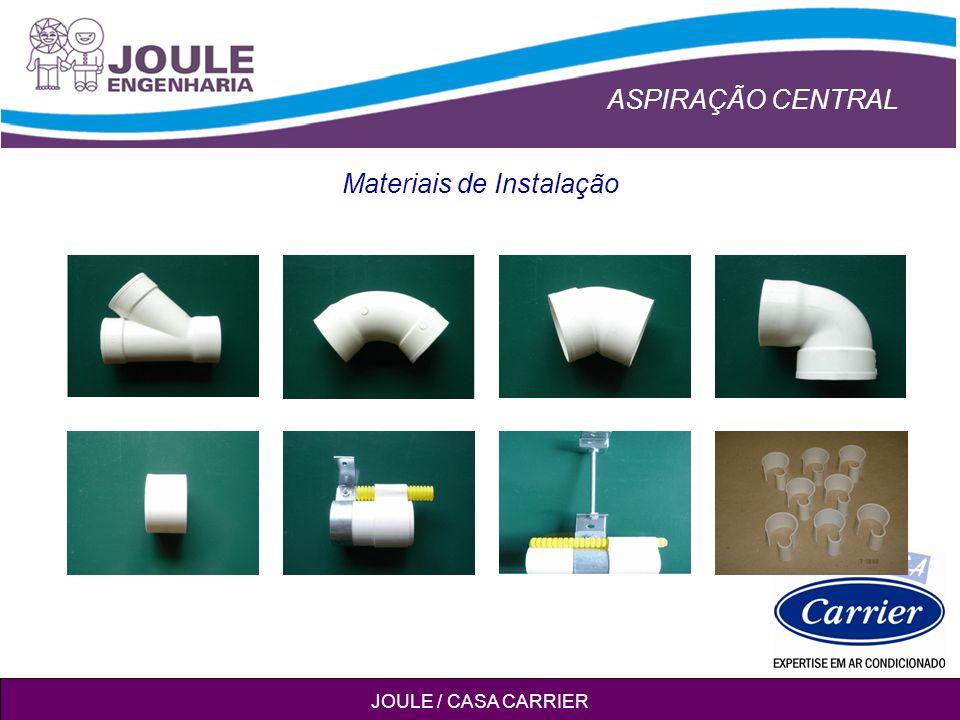 ASPIRAÇÃO CENTRAL JOULE / CASA CARRIER Materiais de Instalação