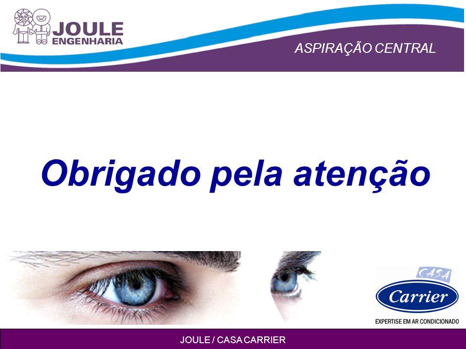 ASPIRAÇÃO CENTRAL JOULE / CASA CARRIER Obrigado pela atenção