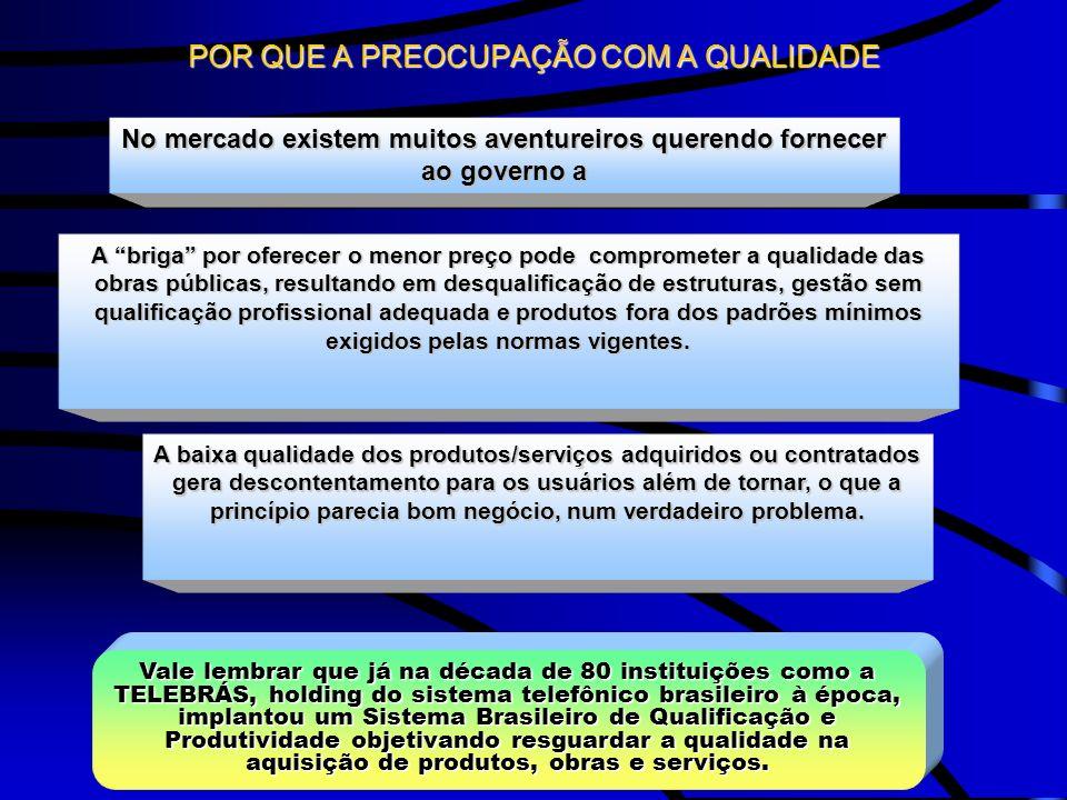 Vale lembrar que já na década de 80 instituições como a TELEBRÁS, holding do sistema telefônico brasileiro à época, implantou um Sistema Brasileiro de