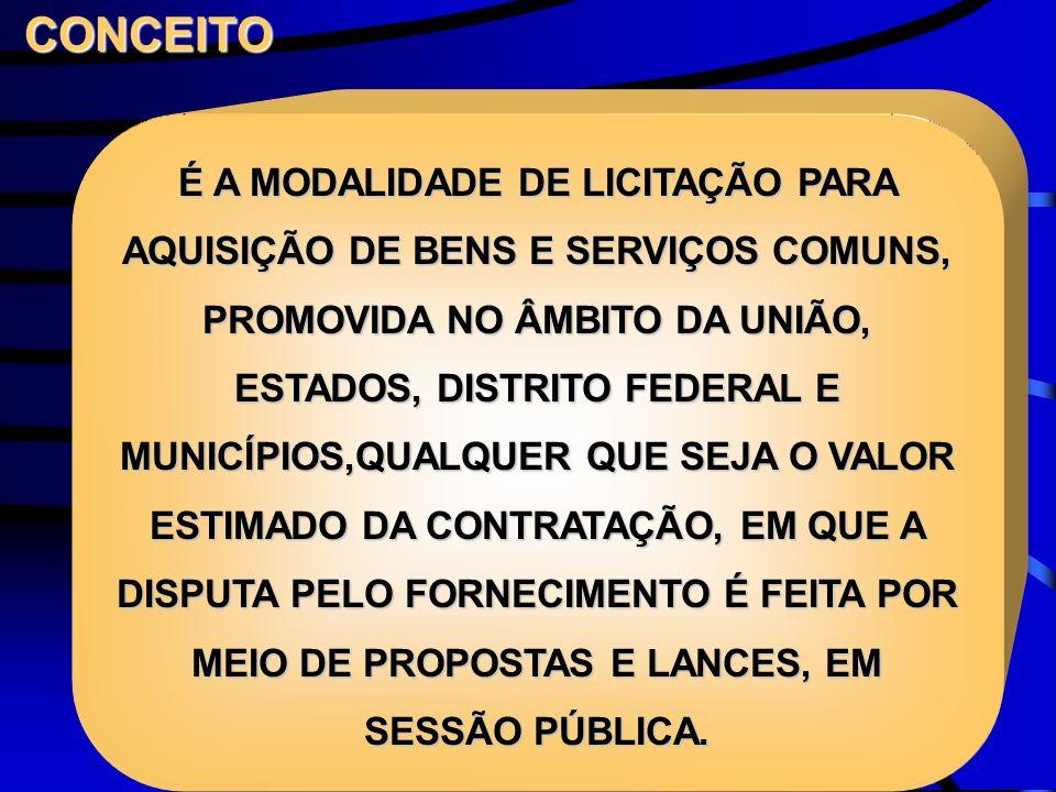 CONDUÇÃO DOS TRABALHOS ÓRGÃO PROMOTOR DA LICITAÇÃO, COM APOIO TÉCNICO E OPERACIONAL DO MINISTÉRIO DO PLANEJAMENTO, ORÇAMENTO E GESTÃO, ATRAVÉS DA SECRETARIA DE LOGÍSTICA E TECNOLOGIA DA INFORMAÇÃO SLTI ATUA NO MINISTÉRIO DO PLANEJAMENTO COMO PROVEDOR DO SISTEMA ELETRÔNICO PARA OS ÓRGÃOS INTEGRANTES DO SISTEMA DE SERVIÇOS GERAIS - SISG PODERÁ CEDER O USO DO SEU SISTEMA ELETRÔNICO A ÓRGÃO OU ENTIDADE DOS DEMAIS PODERES, MEDIANTE TERMO DE ADESÃO