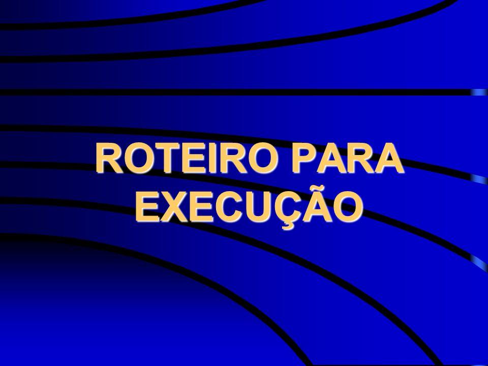 ROTEIRO PARA EXECUÇÃO