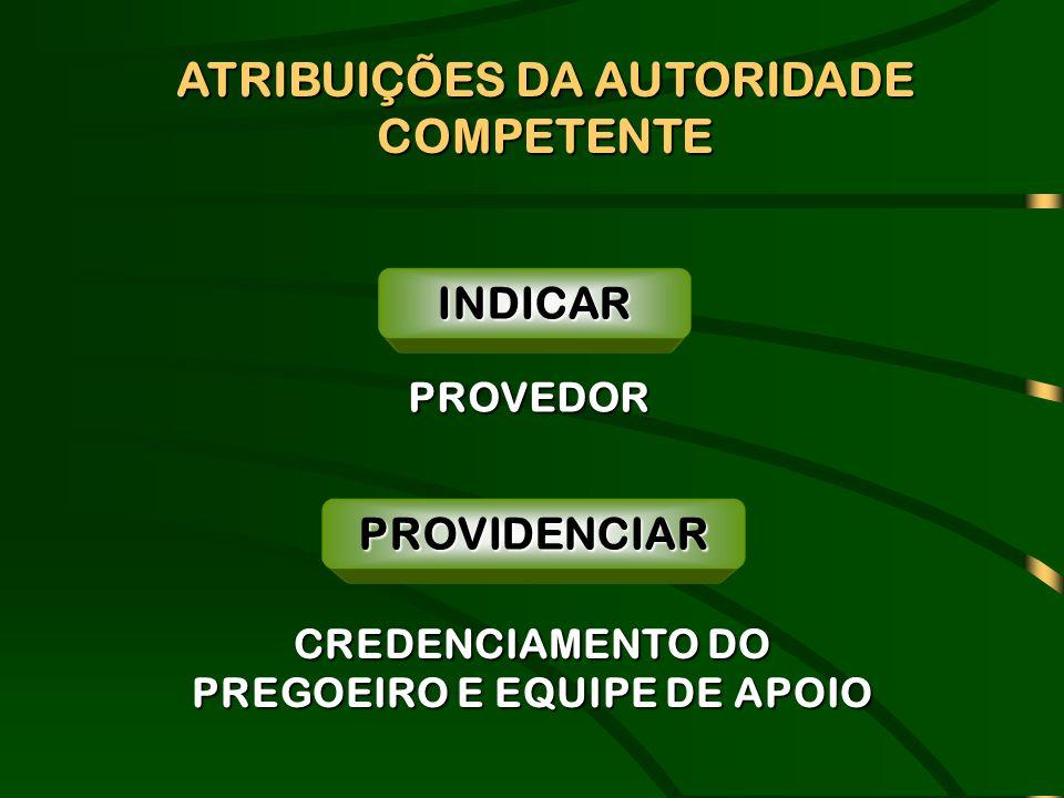 PROVIDENCIAR CREDENCIAMENTO DO PREGOEIRO E EQUIPE DE APOIO PROVEDOR INDICAR