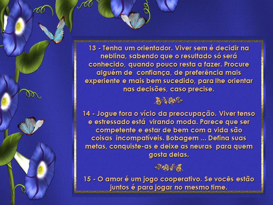 24 Toques para ser feliz Roberto Shinyashiki Formatação: ©Maristela Ferreira Todos os direitos reservados 13 - Tenha um orientador.