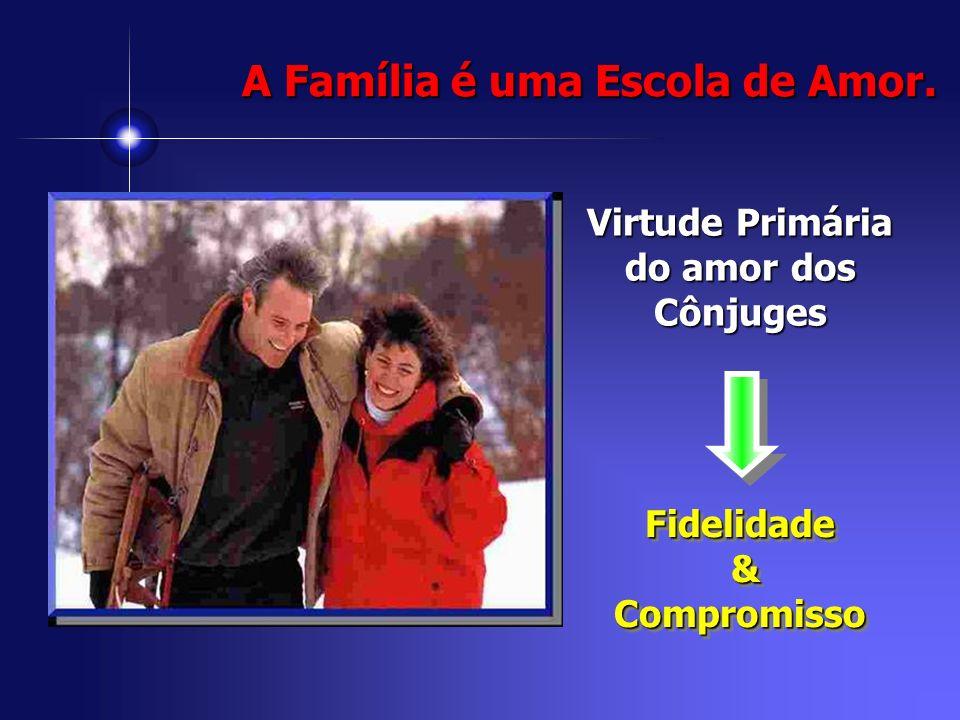 Virtude Primária do amor dos Cônjuges Fidelidade &CompromissoFidelidade &Compromisso A Família é uma Escola de Amor.