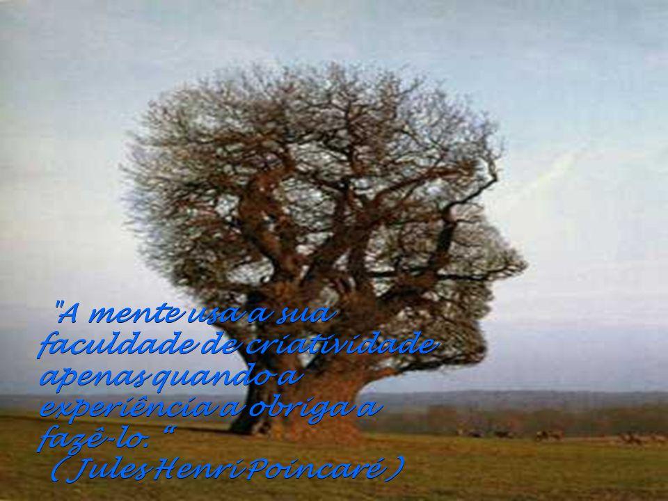 A mente usa a sua faculdade de criatividade apenas quando a experiência a obriga a fazê-lo.
