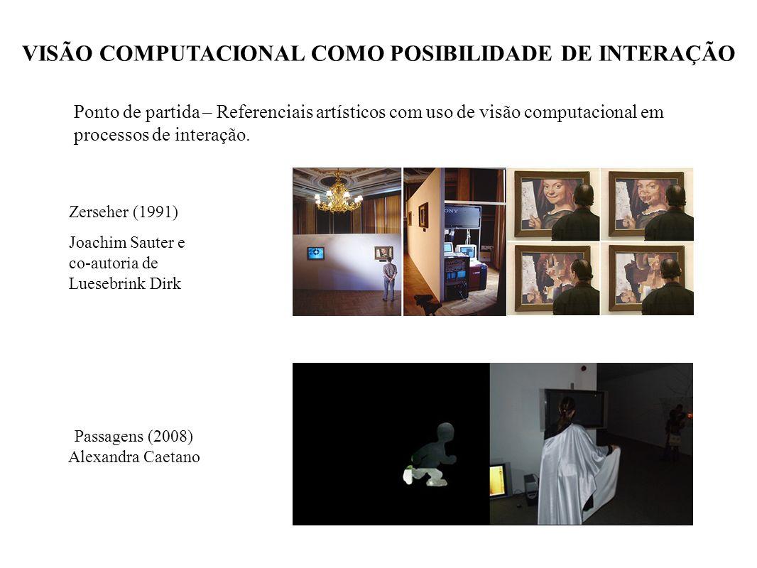 VISÃO COMPUTACIONAL COMO POSIBILIDADE DE INTERAÇÃO Passagens (2008) Alexandra Caetano Ponto de partida – Referenciais artísticos com uso de visão comp