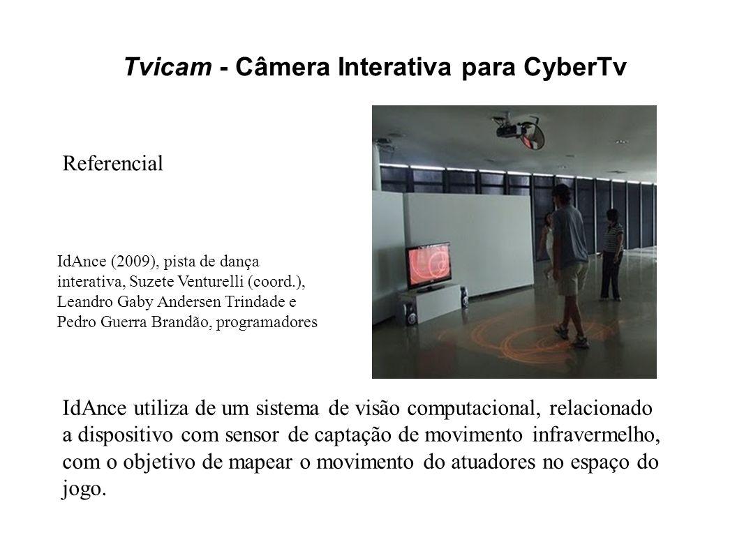 Tvicam - Câmera Interativa para CyberTv IdAnce (2009), pista de dança interativa, Suzete Venturelli (coord.), Leandro Gaby Andersen Trindade e Pedro G