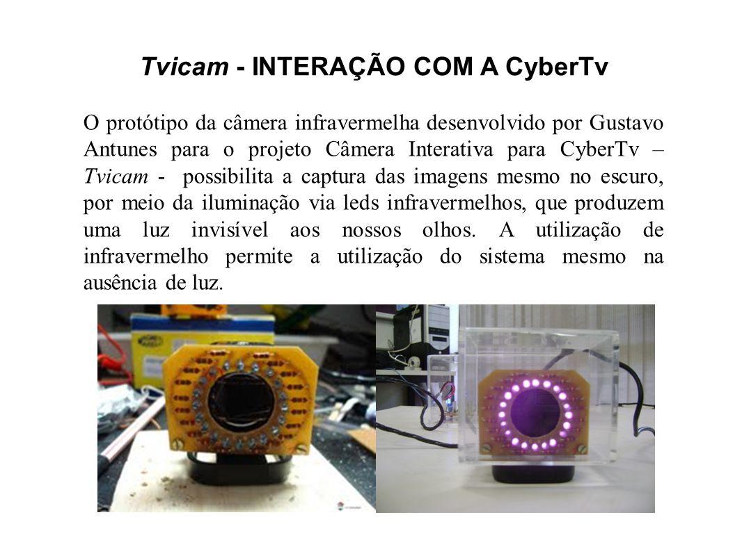 Tvicam - INTERAÇÃO COM A CyberTv O protótipo da câmera infravermelha desenvolvido por Gustavo Antunes para o projeto Câmera Interativa para CyberTv –