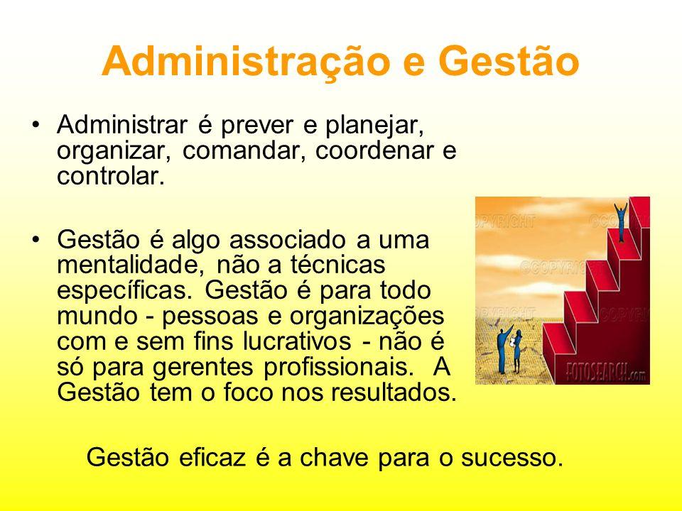 Excelência na Gestão EFICÁCIA: processos: decidir quais são as coisas certas para se fazer, atingir as metas.